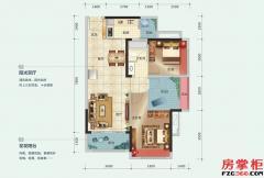 7-8栋A户型-88平米-2房2厅1卫