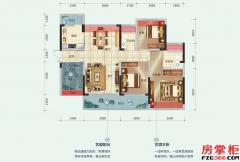 7-8栋B户型-112平米-3房2厅2卫