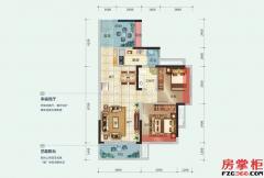 15栋E户型-75平米-2房2厅1卫