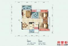 16-17-18栋F户型-78平米-2房2厅1卫