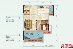 16-17-18栋G户型-62平米-1房2厅1卫
