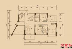 天睿南区1栋04户型-123�O-3房2厅2卫