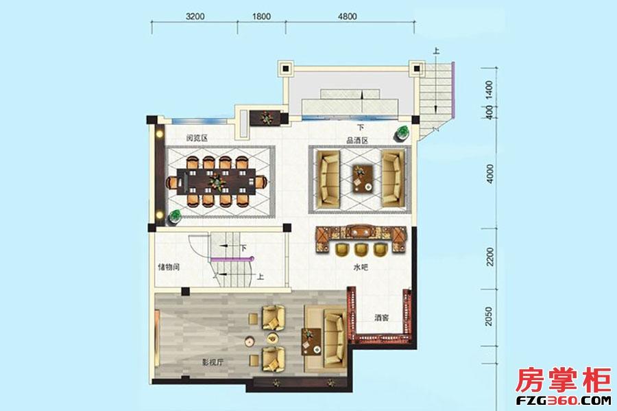 别墅P005-4户型-341�O-5房5厅4卫-地下一层