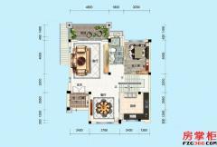 别墅P005-4户型-341�O-5房5厅4卫-一层
