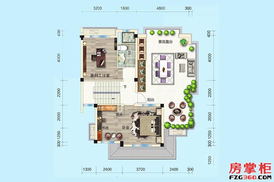 别墅P005-4户型-341�O-5房5厅4卫-三层