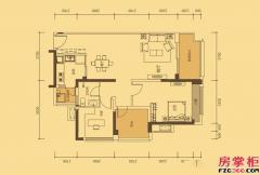 六期D2-D7/D12/D19栋F1户型-88�O-2房2厅1卫
