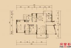 天睿南区1-9栋03户型-108�O-2房2厅2卫