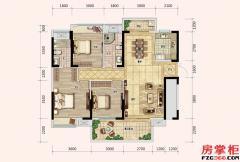 梵高的花园101/108栋-E户型-121�O-3房2厅2卫