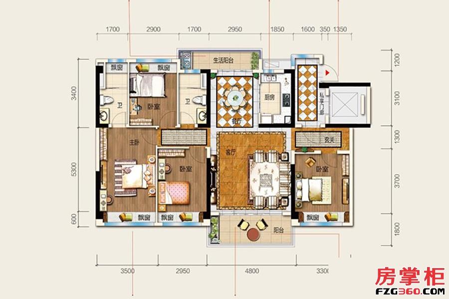 24栋S1户型-142�O-4房2厅2卫