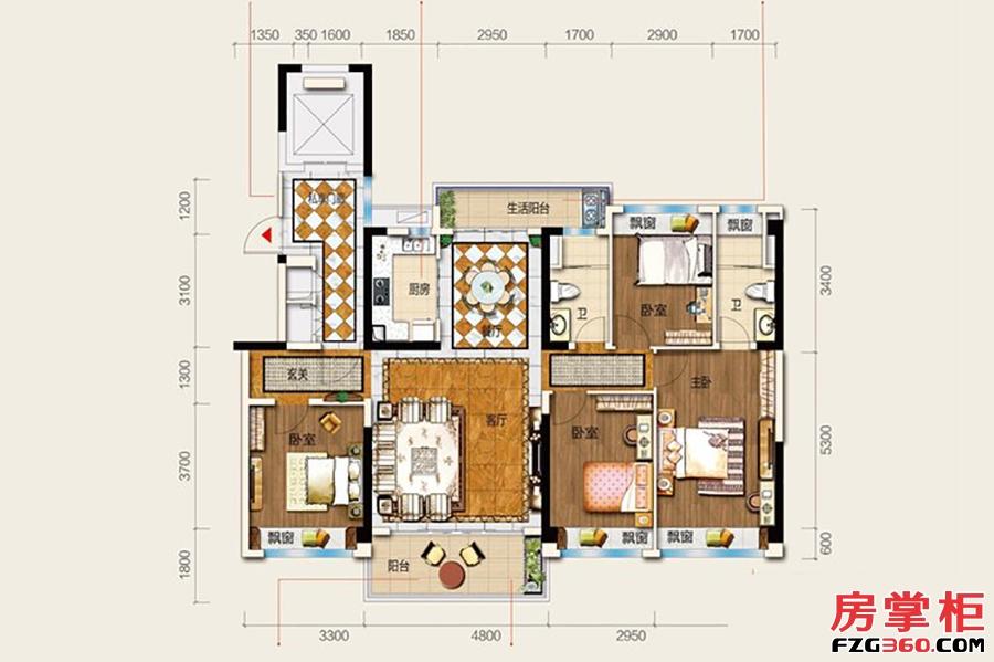 24栋S2户型-142�O-4房2厅2卫