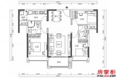 15栋-02户型-105�O-3房2厅2卫
