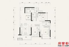 7栋01户型-101�O-3室2厅2卫