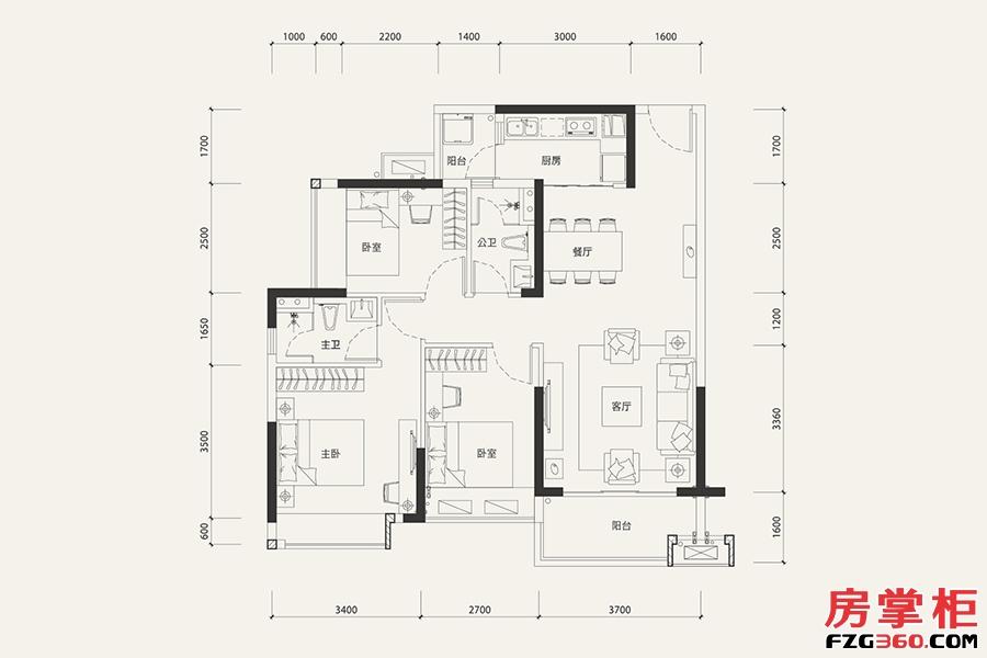 7栋02户型-101�O-3室2厅2卫.