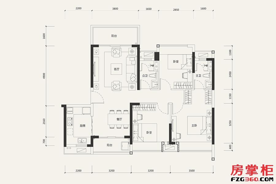 7栋04户型-107㎡-3室2厅2卫