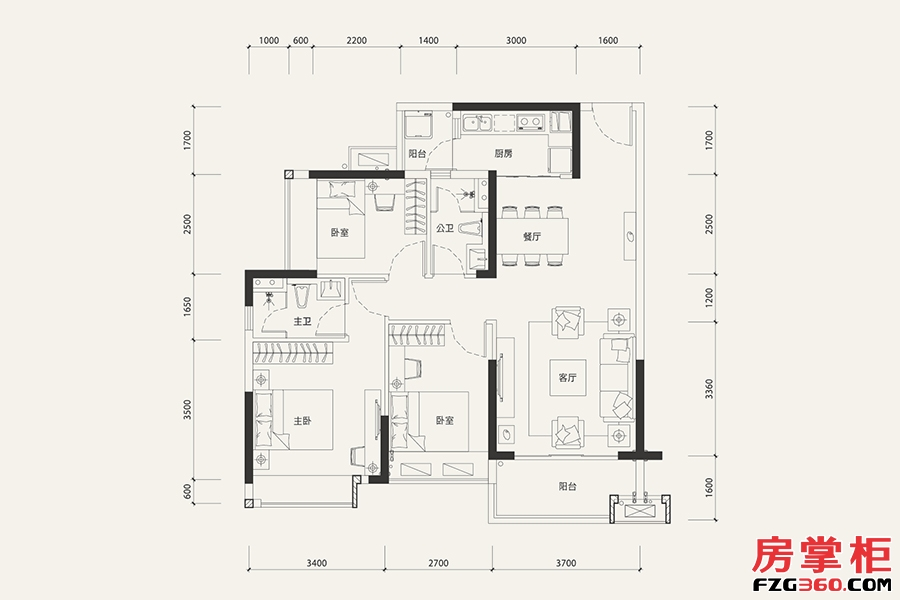 8栋02户型-101�O-3室2厅2卫