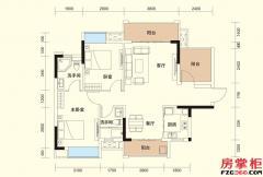 B户型-87�O-2房2厅2卫