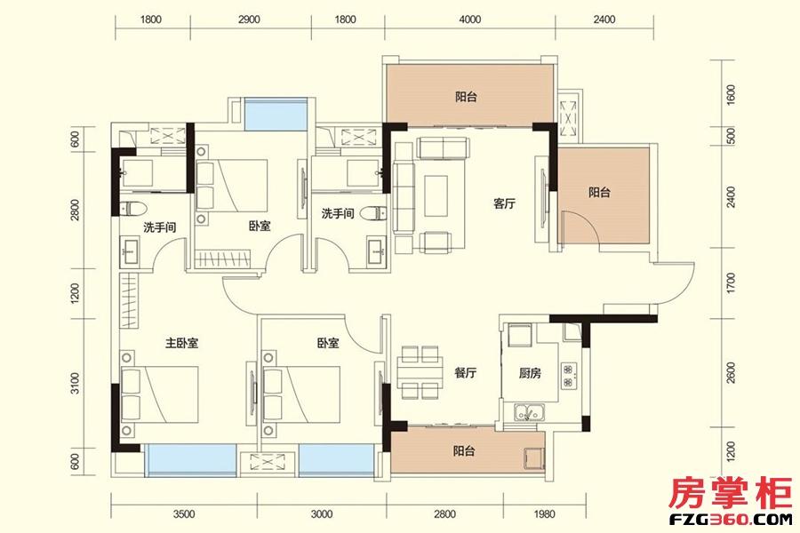 D户型-110㎡-3房2厅2卫