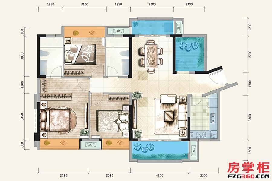 C户型-131�O-4房2厅2卫