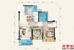 D户型-95�O-3房2厅2卫