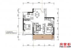 F户型-82�O-2房2厅1卫