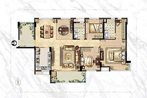 A4户型-128㎡-4房2厅2卫