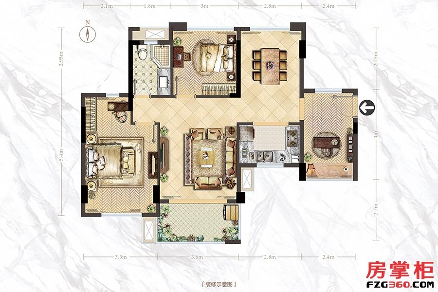 A户型-83㎡-2房2厅1卫