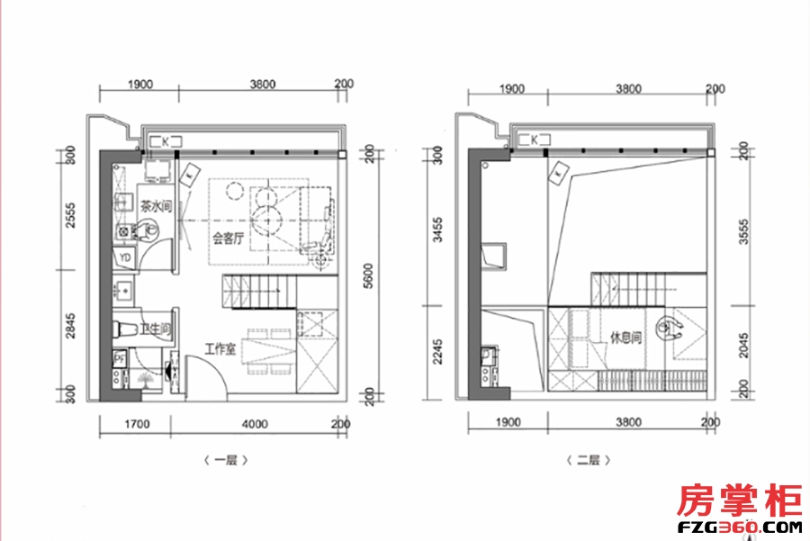 漾100-45�O-2房1厅1卫