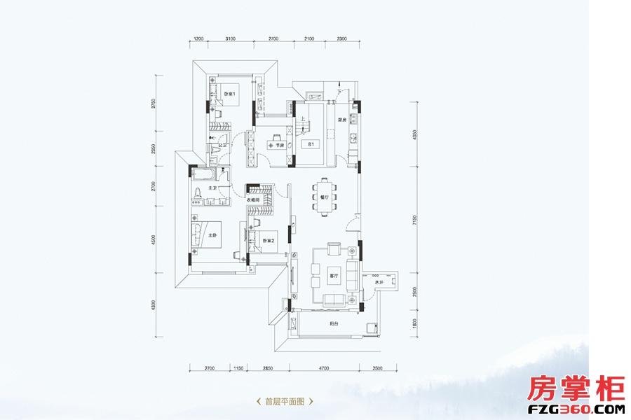 叠墅A1户型-161�O-4室2厅2卫