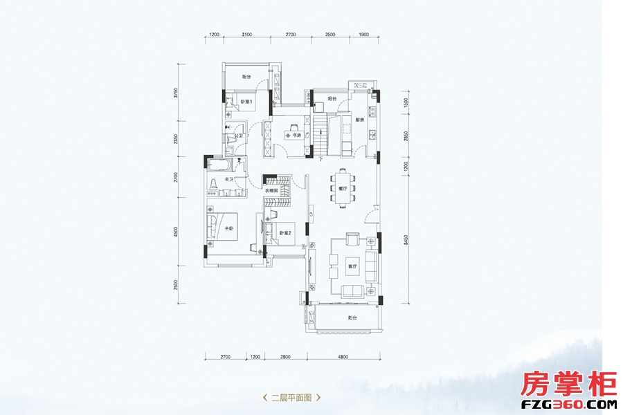 叠墅B1户型-161�O-4室2厅2卫