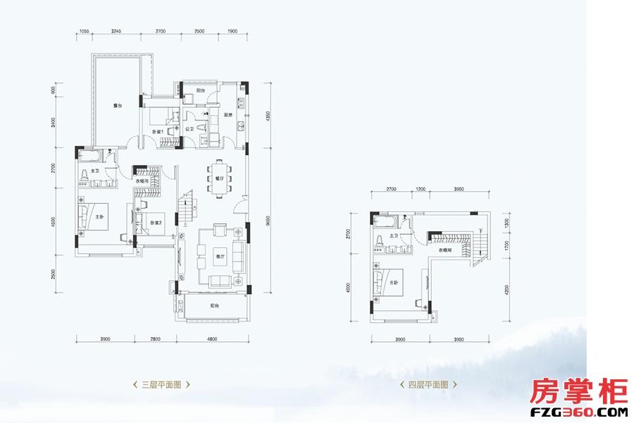 叠墅C1户型-181�O-4室2厅3卫