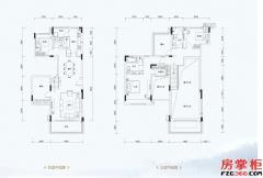叠墅D1户型-157�O-3室2厅3卫
