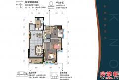 D户型-93�O-3房2厅1卫