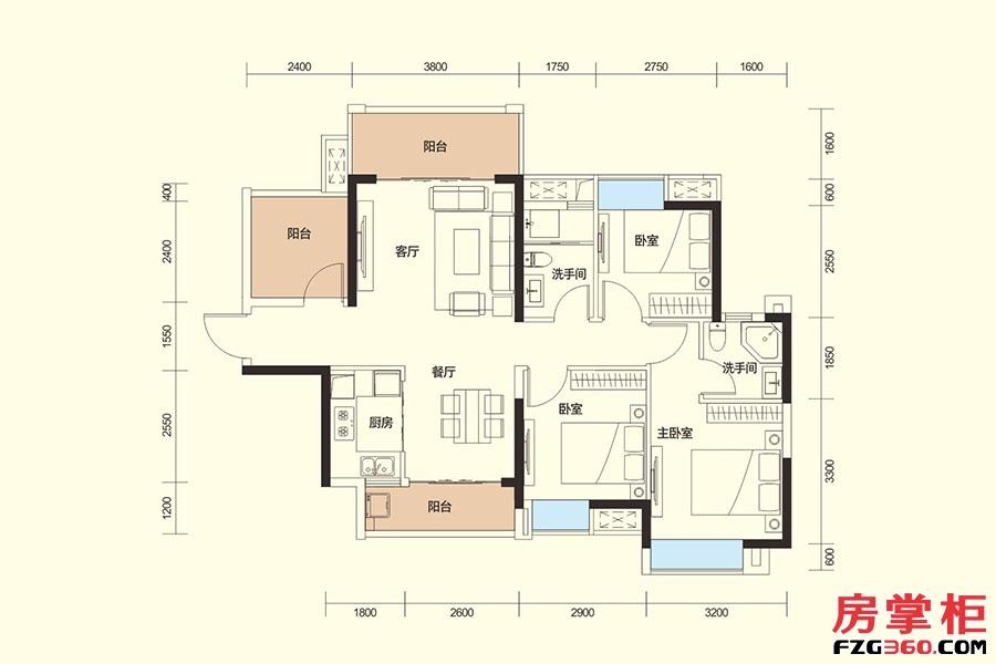 G户型-101�O-3房2厅2卫