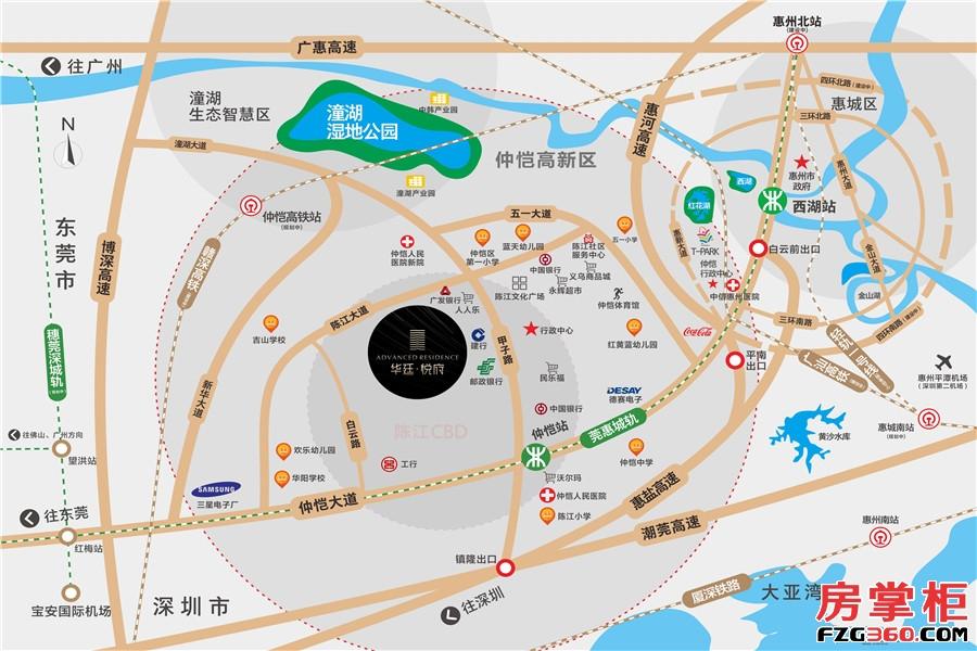华廷悦府-交通图