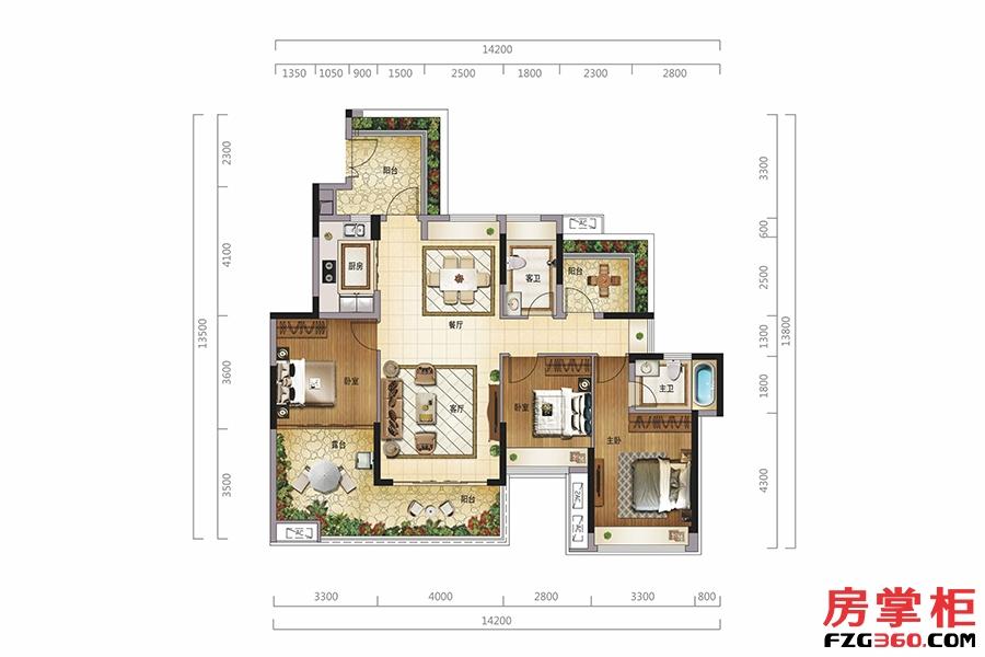 玲珑阁(三层)-119�O-3房2厅2卫
