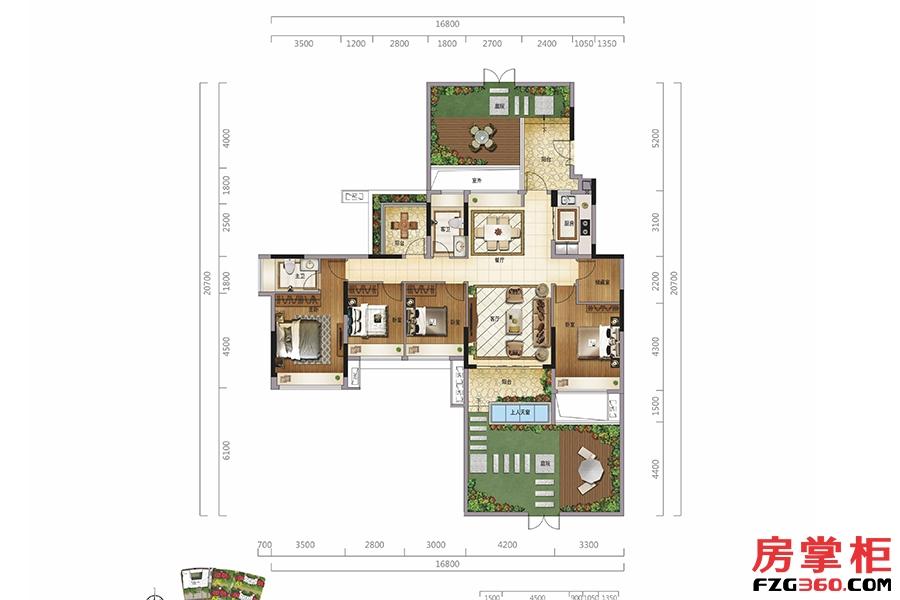 御园墅(一层)-144�O-4房2厅2卫