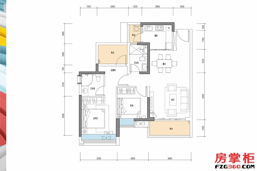 华曲-95�O-2房2厅2卫