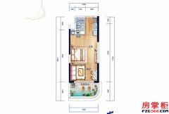 A户型-48�O-1房1厅1卫
