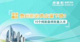 惠州新房供应量下跌?10月15个纯新盘即将批量入市!