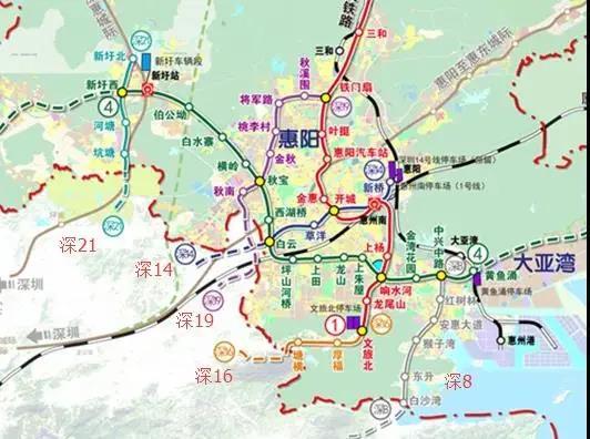 国务院首提深圳地铁14号线延伸至惠州惠阳!
