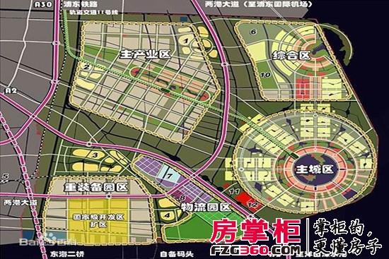 临港新城区域规划图高清图片