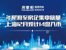 年尾将至房企集中放量 上海12月预计14盘入市