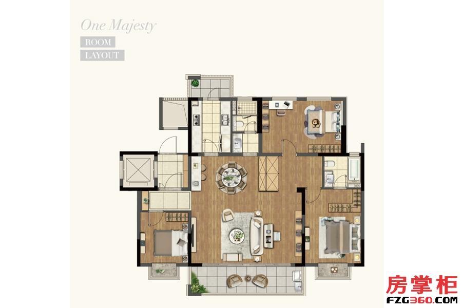 洋房140平米