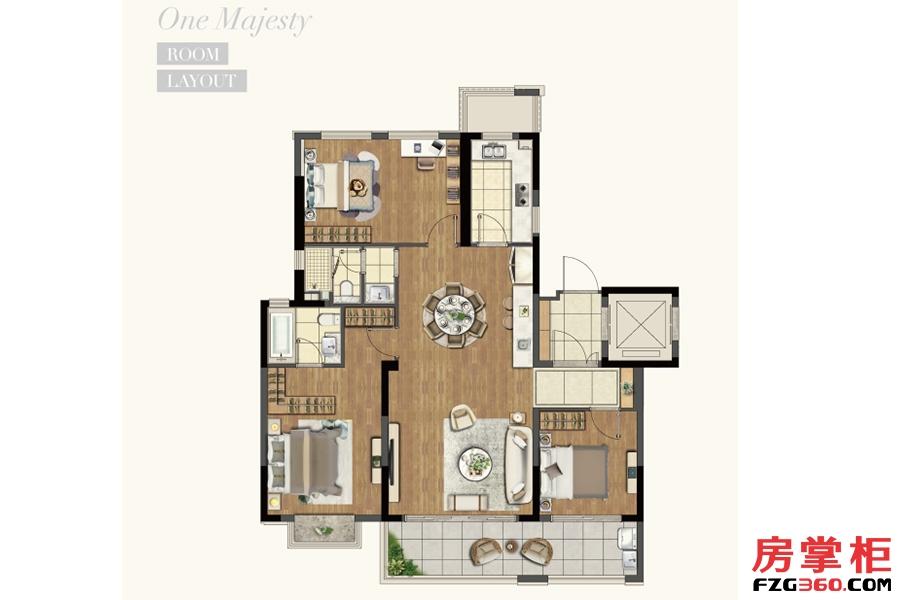 洋房127平米