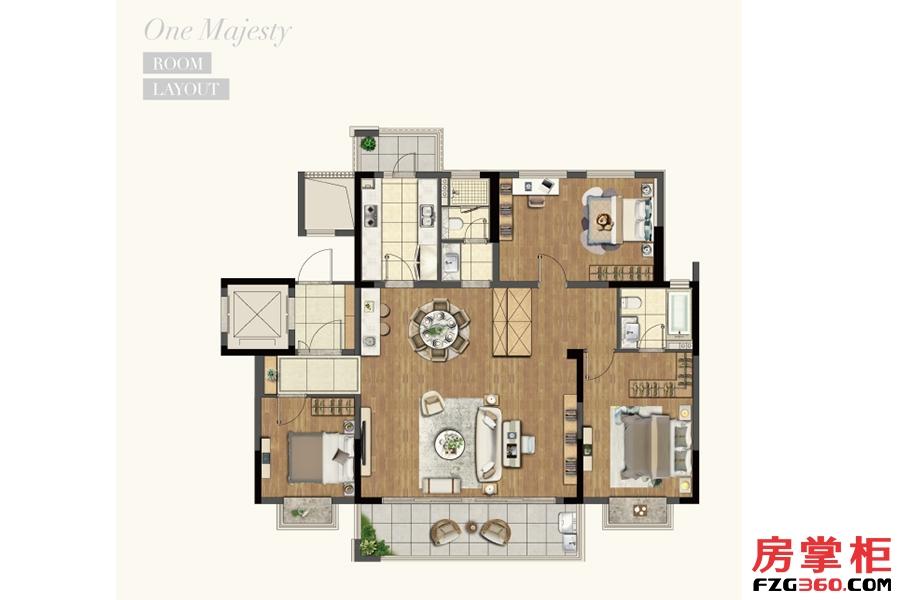 洋房141平米