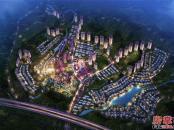 碧桂园润杨溪谷夜景鸟瞰图