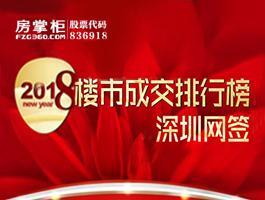 深圳2018年上半年网签排行榜