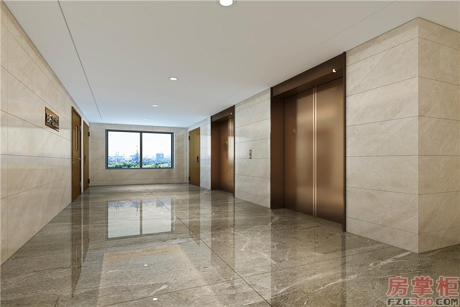 仁和美地标准层电梯间效果图
