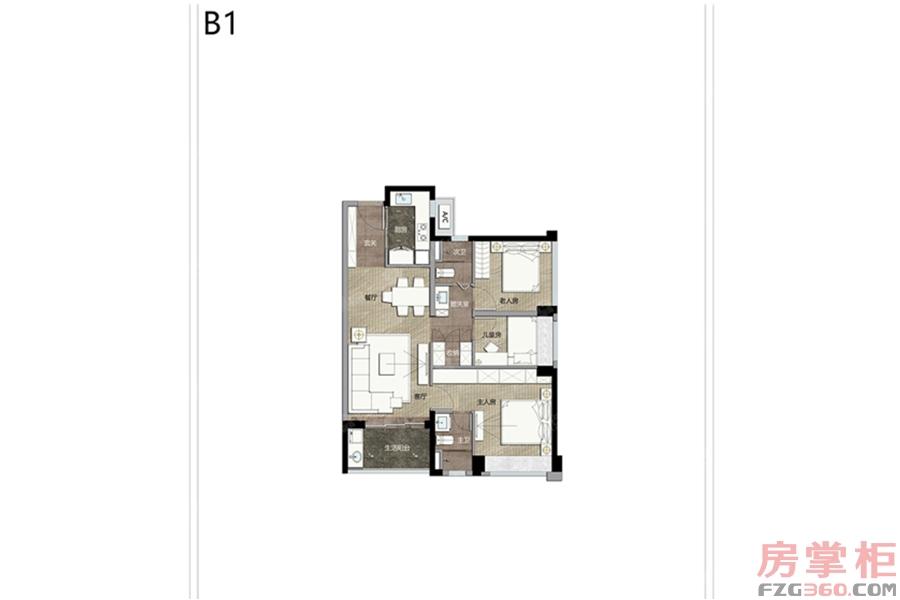 B1户型(竖厅)
