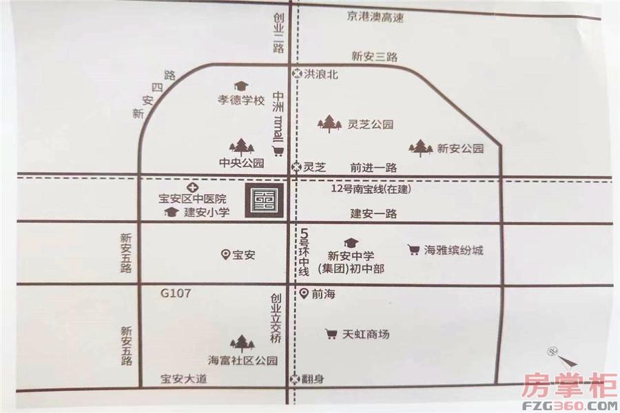 大悦城天玺壹号交通图